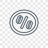 Icona lineare di vettore di concetto di vendita isolata sul backgrou trasparente illustrazione di stock