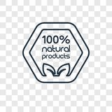 icona lineare di vettore naturale di concetto di 100 per cento isolata su trasporto royalty illustrazione gratis