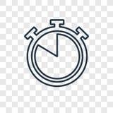 Icona lineare di vettore quasi completo di concetto di tempo isolata su transpar royalty illustrazione gratis