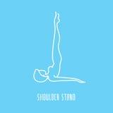 Icona lineare di yoga illustrazione vettoriale