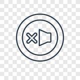 Icona lineare persa di vettore di concetto degli oggetti isolata sulle sedere trasparenti illustrazione di stock