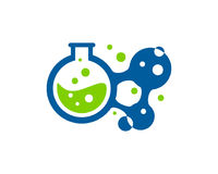Icona Logo Design Element del laboratorio di scienza Fotografie Stock