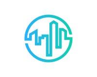 Icona Logo Design Element di Real Estate Immagini Stock Libere da Diritti