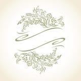 Icona Logo Seal della foglia floreale di vettore Fotografia Stock Libera da Diritti
