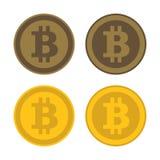 Icona Logo Set di Bitcoin Vettore Fotografia Stock