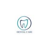 Icona Logo Vector Design Template di cure odontoiatriche Fotografia Stock
