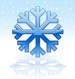 Icona lucida del fiocco di neve Fotografie Stock