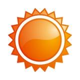 Icona lucida del sole Fotografie Stock