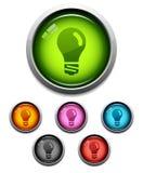Icona lucida della lampadina Fotografie Stock