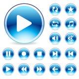 Icona lucida di Web Immagine Stock