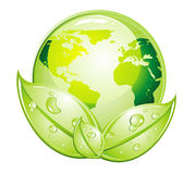 Icona lucida verde del mondo royalty illustrazione gratis