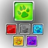 Icona lucida - zampa Fotografia Stock