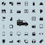 icona a macchina dei reporter di notizie Insieme dettagliato delle icone minimalistic Progettazione grafica premio Una delle icon Fotografie Stock