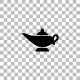 Icona magica della lampada pianamente illustrazione di stock