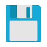 Icona magnetica a disco magnetico di sostegno di archiviazione di dati del computer Immagini Stock