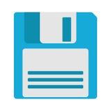 Icona magnetica a disco magnetico di sostegno di archiviazione di dati del computer Fotografie Stock Libere da Diritti