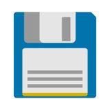 Icona magnetica a disco magnetico di sostegno di archiviazione di dati del computer Immagine Stock Libera da Diritti