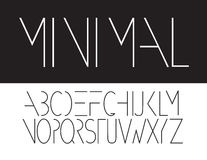 Icona maiuscola minima di simbolo della fonte Fotografia Stock