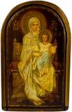 Icona Mary e Christ Immagine Stock