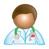 Icona maschio del medico Fotografie Stock Libere da Diritti