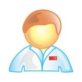 Icona maschio dell'infermiera Fotografie Stock