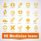 Icona medica (2) Immagini Stock Libere da Diritti
