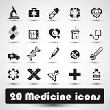 Icona medica (2) Fotografia Stock