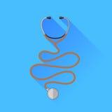 Icona medica dello stetoscopio Fotografia Stock