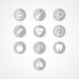 Icona medica di web Fotografie Stock