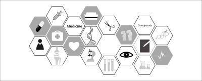 Icona medica su fondo bianco illustrazione di vettore - vettore fotografia stock