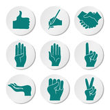 Icona messa con le mani Fotografia Stock