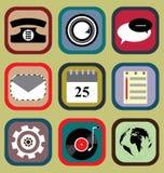 Icona messa per il telefono cellulare Fotografia Stock Libera da Diritti