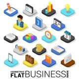 Icona mobile di app di vettore 3d di affari dei soldi isometrici piani di finanza Fotografia Stock