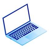 Icona moderna del computer portatile, stile isometrico royalty illustrazione gratis
