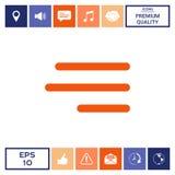 Icona moderna del menu dell'hamburger per i apps ed i siti Web mobili Immagine Stock