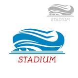 Icona moderna dello stadio o dell'arena di sport Fotografie Stock Libere da Diritti