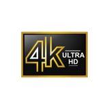 Icona moderna 4K illustrazione di stock