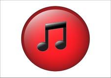 Icona musicale Fotografie Stock