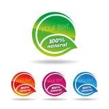 Icona naturale & organica della foglia  Immagini Stock