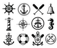 Icona nautica Fotografia Stock
