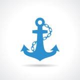 Icona nautica dell'ancora Fotografia Stock Libera da Diritti
