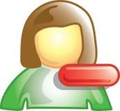 Icona negativa della persona illustrazione di stock