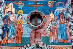 Icona nella chiesa ortodossa in Tusnad, la Transilvania Immagini Stock Libere da Diritti