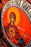 Icona nella chiesa ortodossa in Tusnad, la Transilvania Immagine Stock
