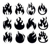 Icona del fuoco Immagini Stock Libere da Diritti
