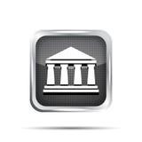 Icona nera della banca illustrazione di stock