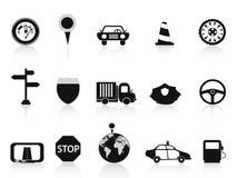 Icona nera di traffico Fotografia Stock