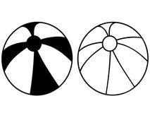 Icona nera semplice del beach ball Immagini Stock Libere da Diritti