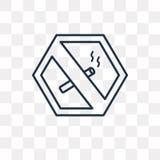 Icona non fumatori di vettore isolata su fondo trasparente, linea royalty illustrazione gratis