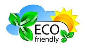 Icona o concepta amichevole di Web site di Eco Immagine Stock Libera da Diritti